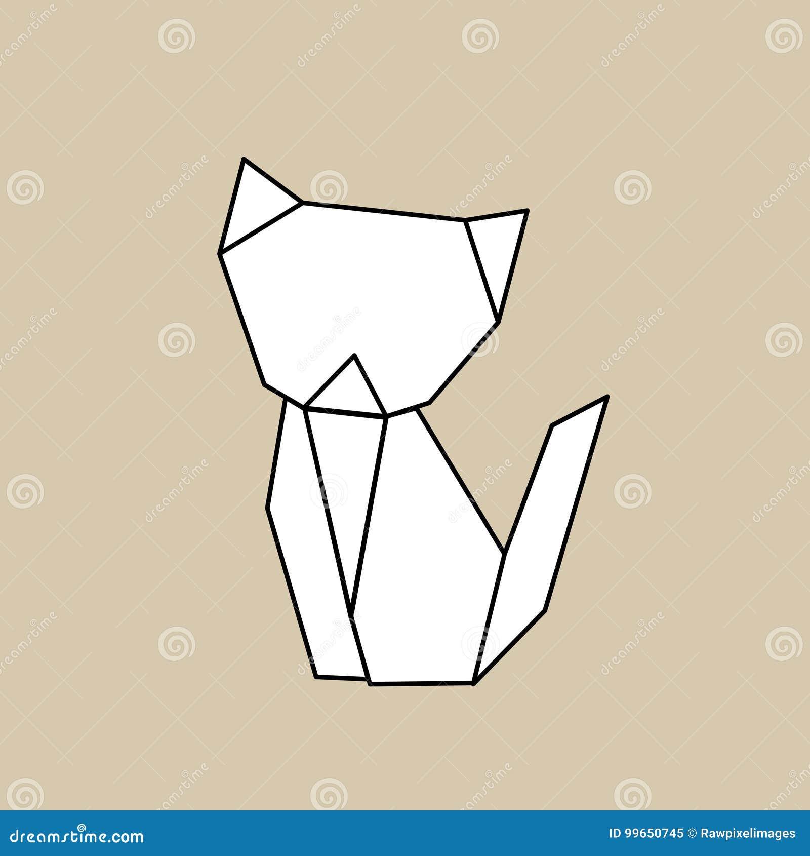 Animal origami vector craft illustration