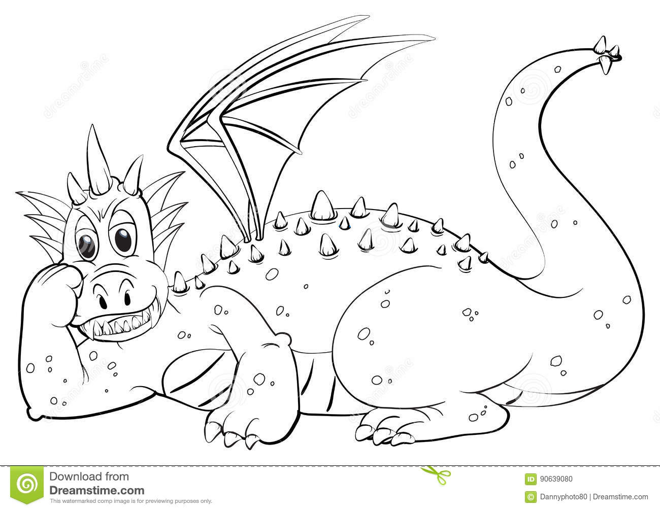 animal outline for dragon with wings - Dragon Outline