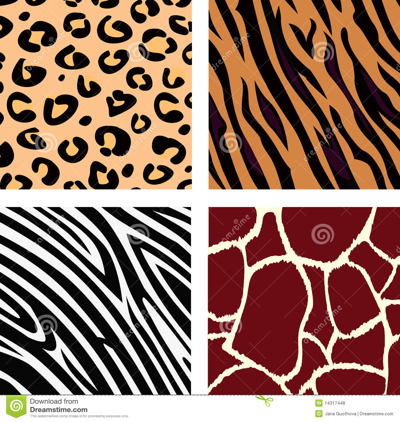 Animal Pattern Tiger Zebra Giraffe Leopard Royalty