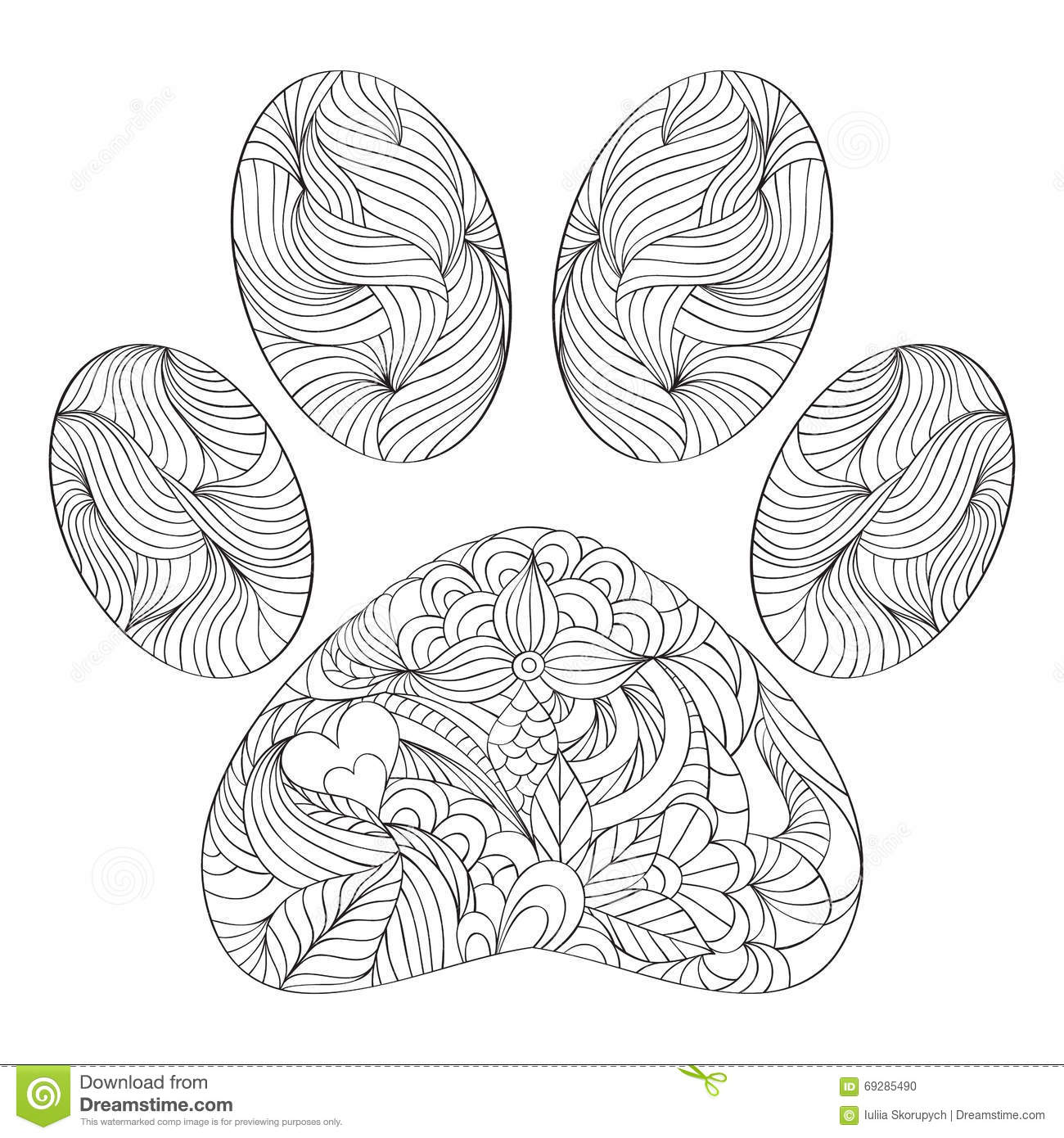 paw print coloring pages - photo#26