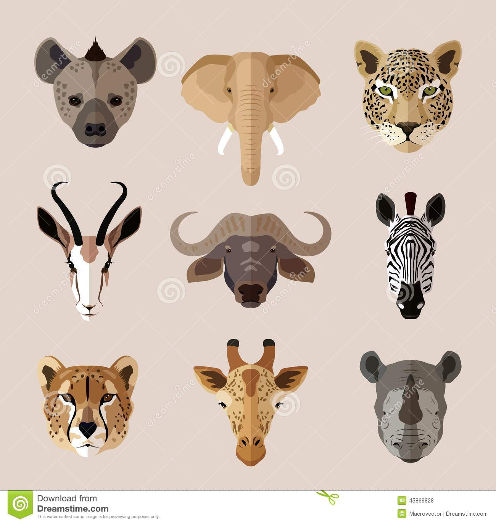 Animal Portrait Flat I...