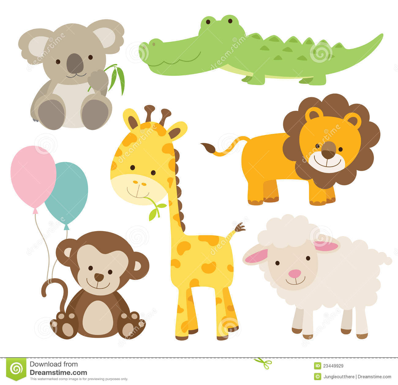 Royalty Free Stock Images Animal Set Image23449929 on Stock Illustration Farm Animals Their Babies Vector Set White