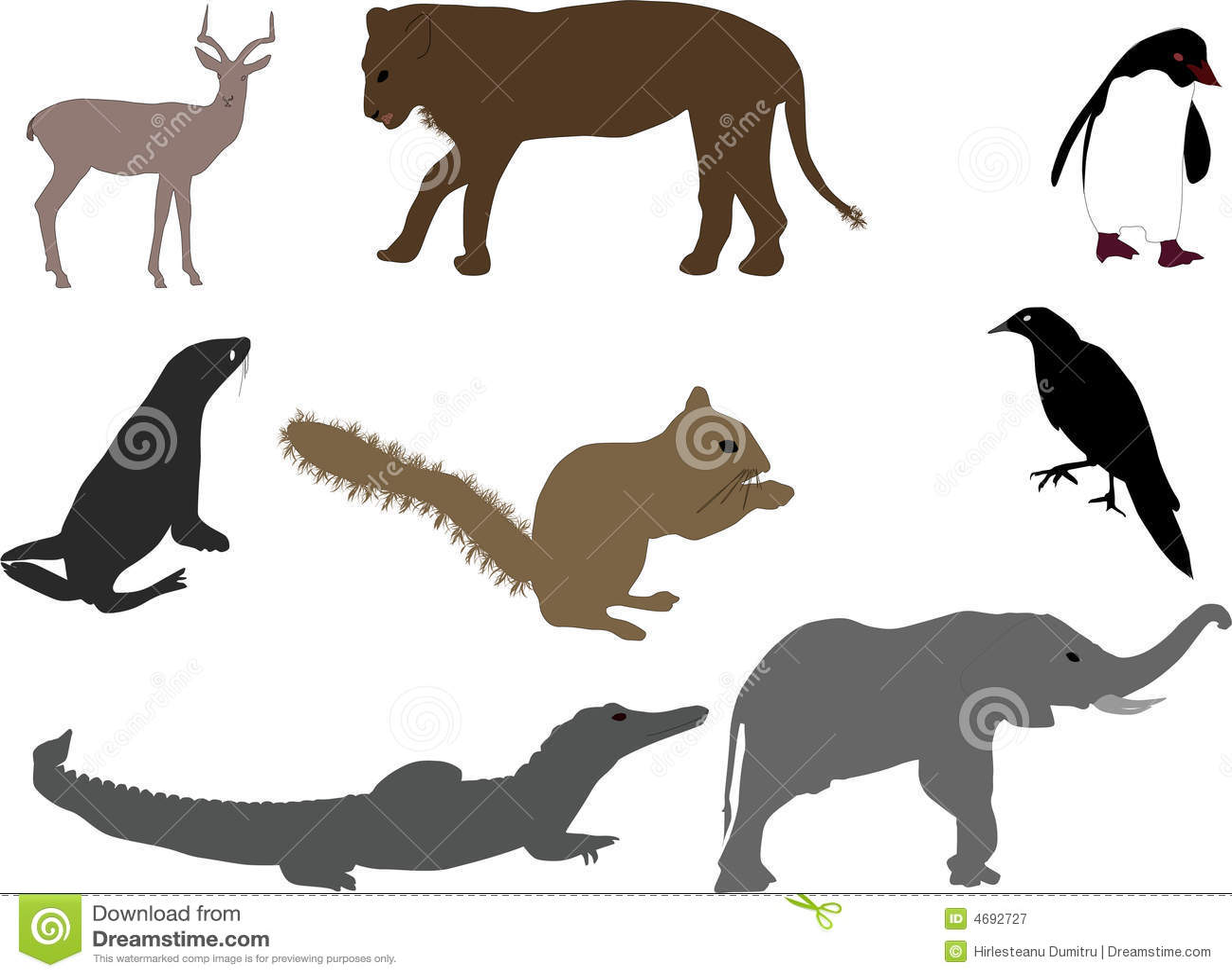 Animal Shapes Royalty Free Stock Photography