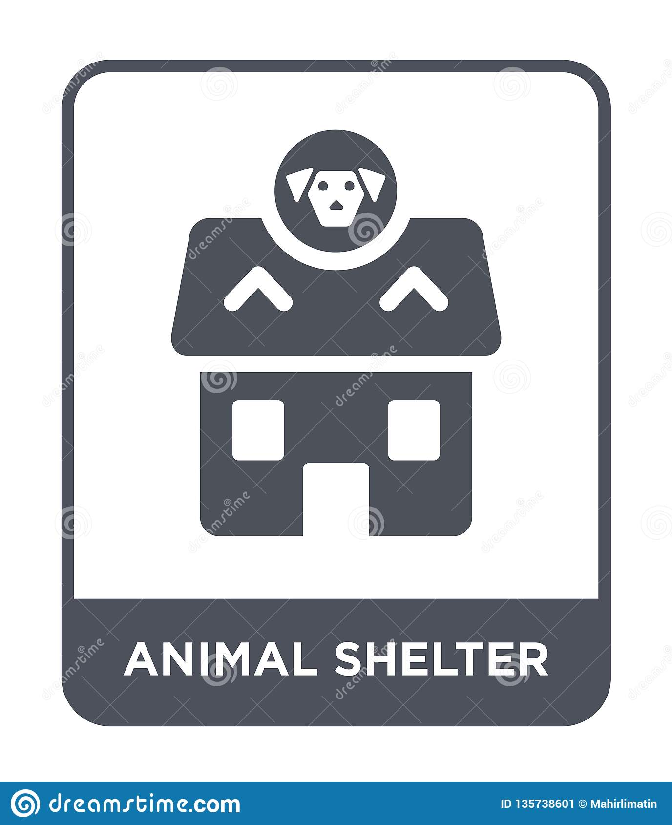 animal shelter icon in trendy design style. animal shelter icon isolated on white background. animal shelter vector icon simple
