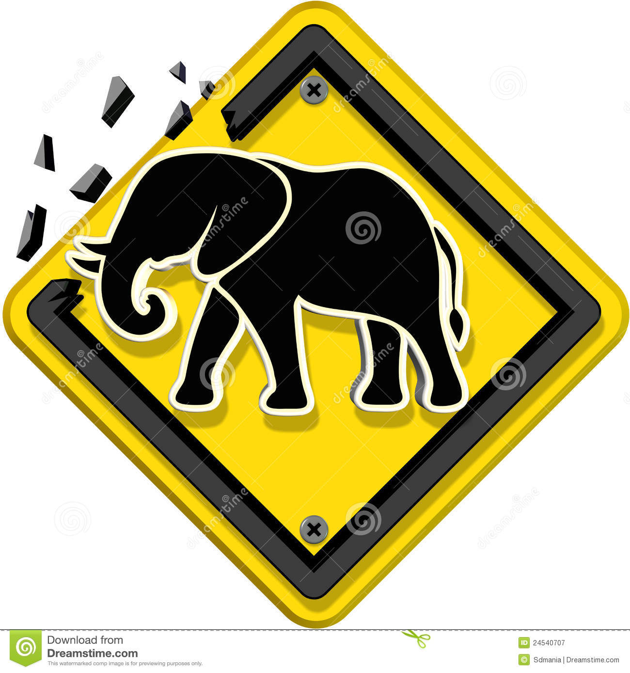 sign animal yellow royalty dreamstime