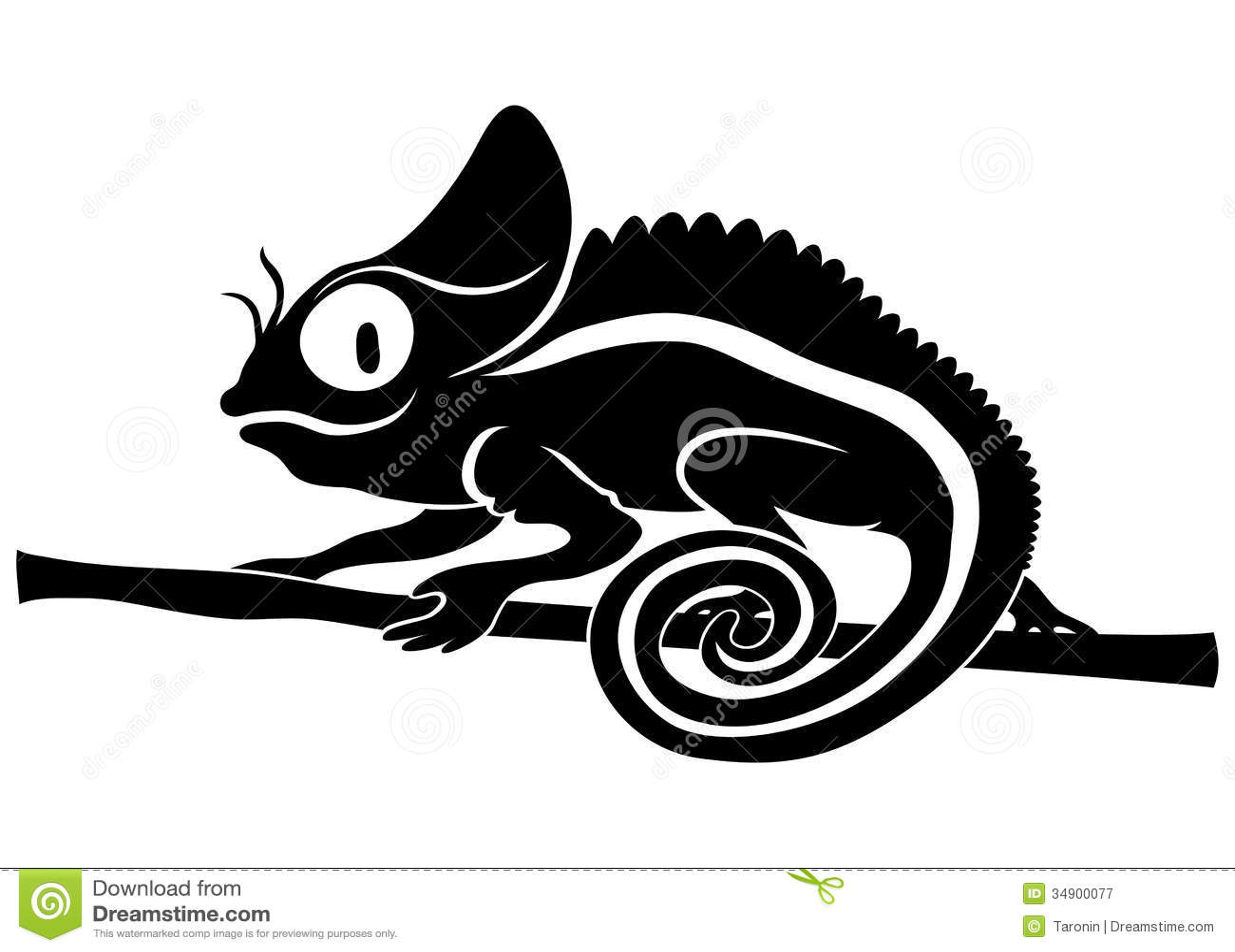 Animal sign. Chameleon. stock vector. Illustration of ...