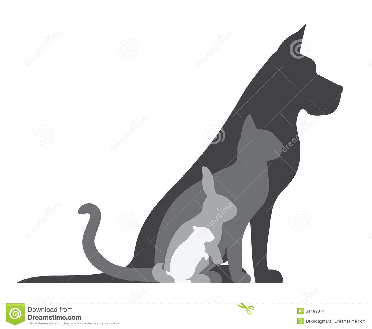 Animal Silhouettes Composition Stock Images Image 31489014