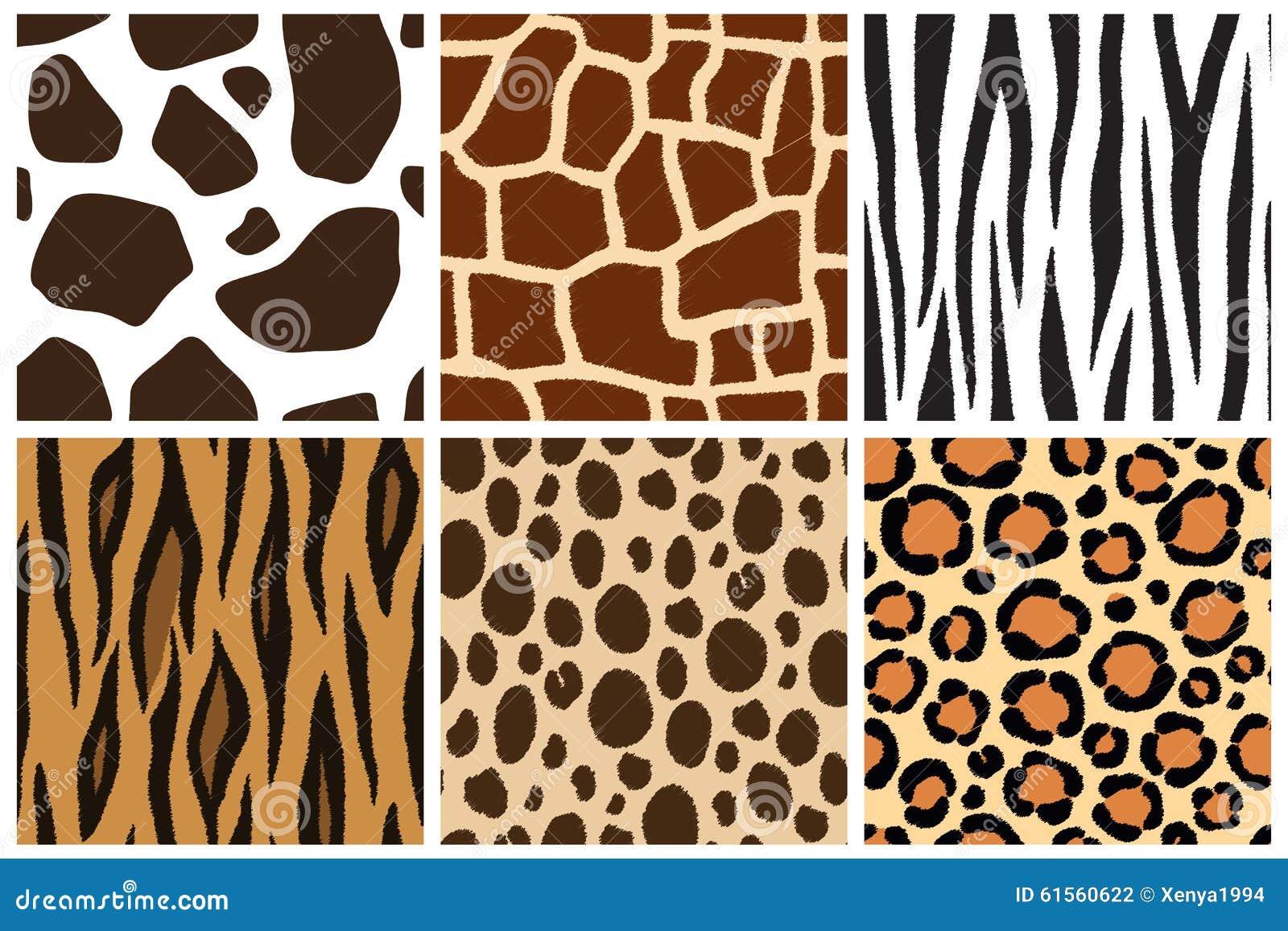 Animal Skin. Seamless Patterns For Design. Cow, Giraffe