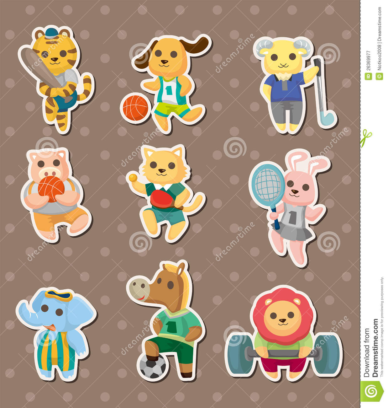 cartoon animal stickers in - photo #25