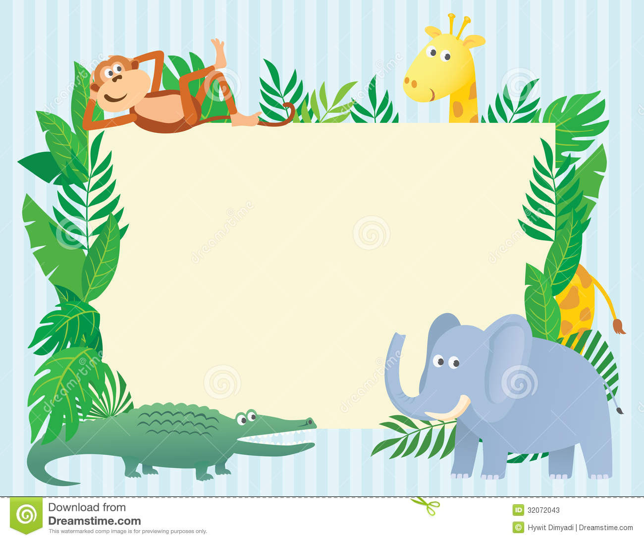Animal Themed Illustration With Copy Space Stock Vector ...