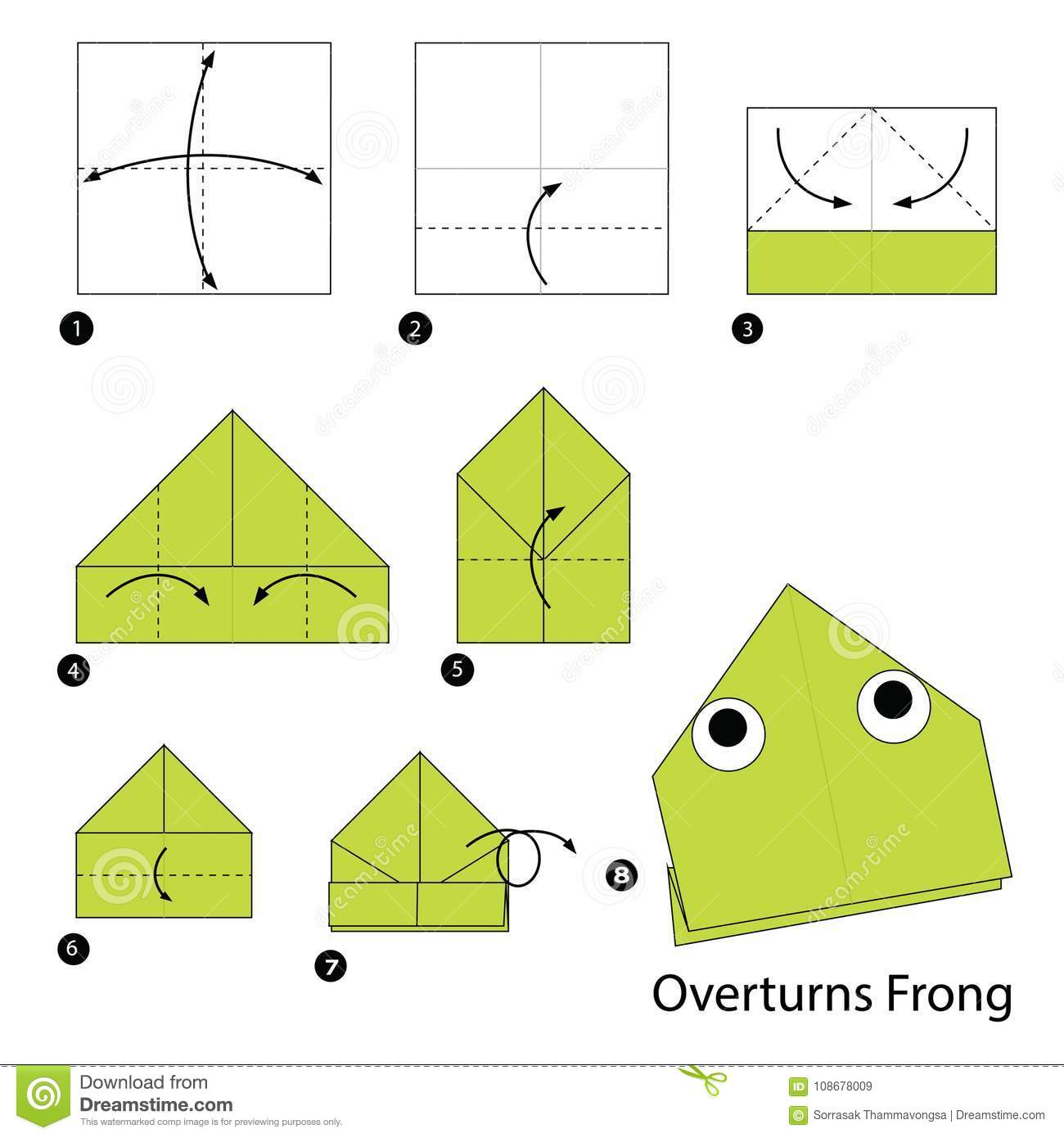 step by step instructions how to make origami a overturns. Black Bedroom Furniture Sets. Home Design Ideas