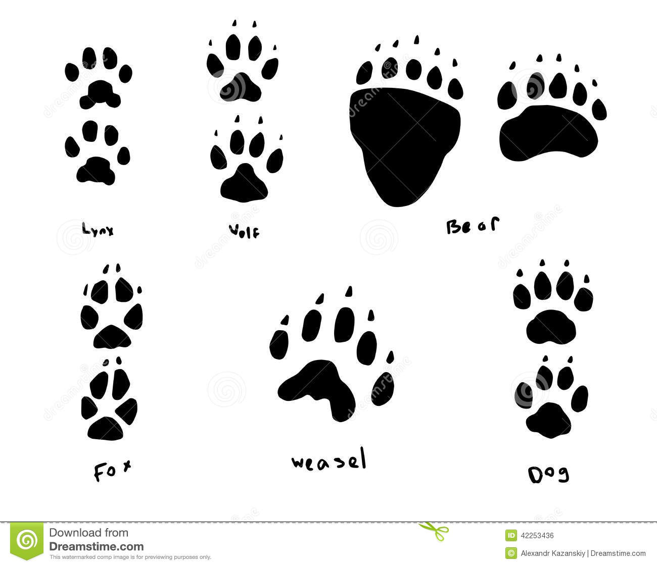This is a set of animal footprintsThis is an illustration of pixelated ... African Lion Footprints