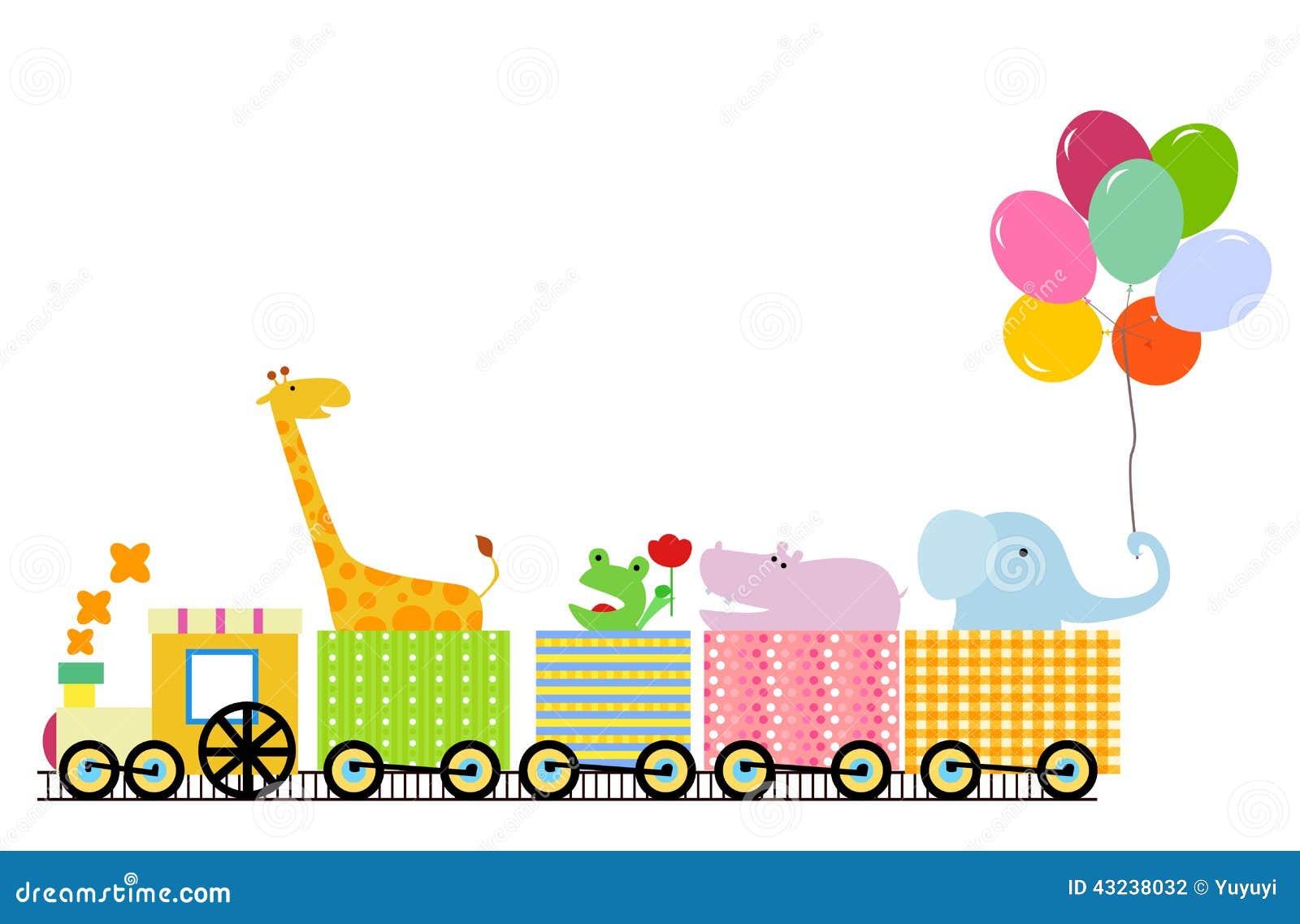 Animal Train Stock Vector - Image: 43238032