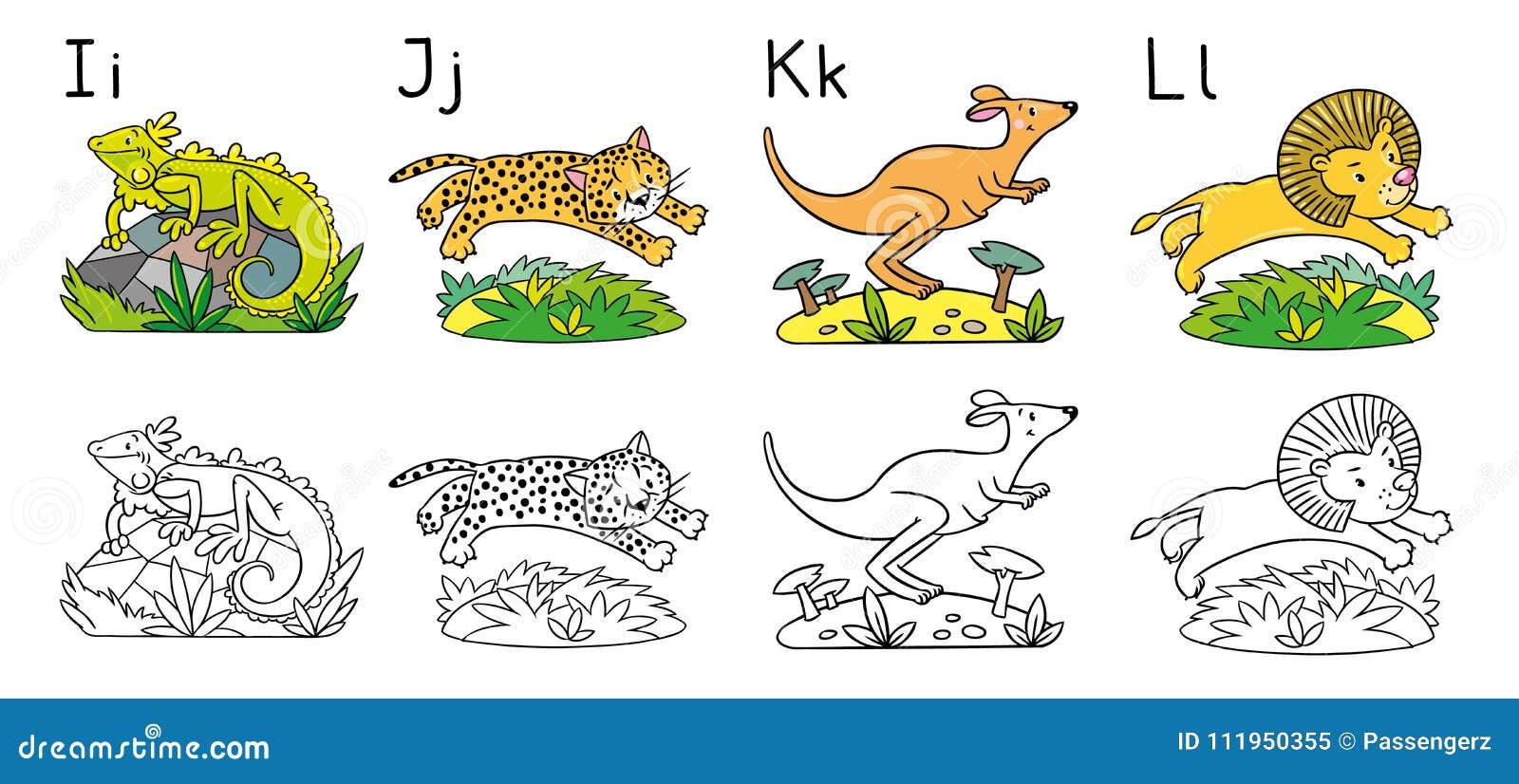 Lujoso Abc Animal Para Colorear Elaboración - Ideas Para Colorear ...