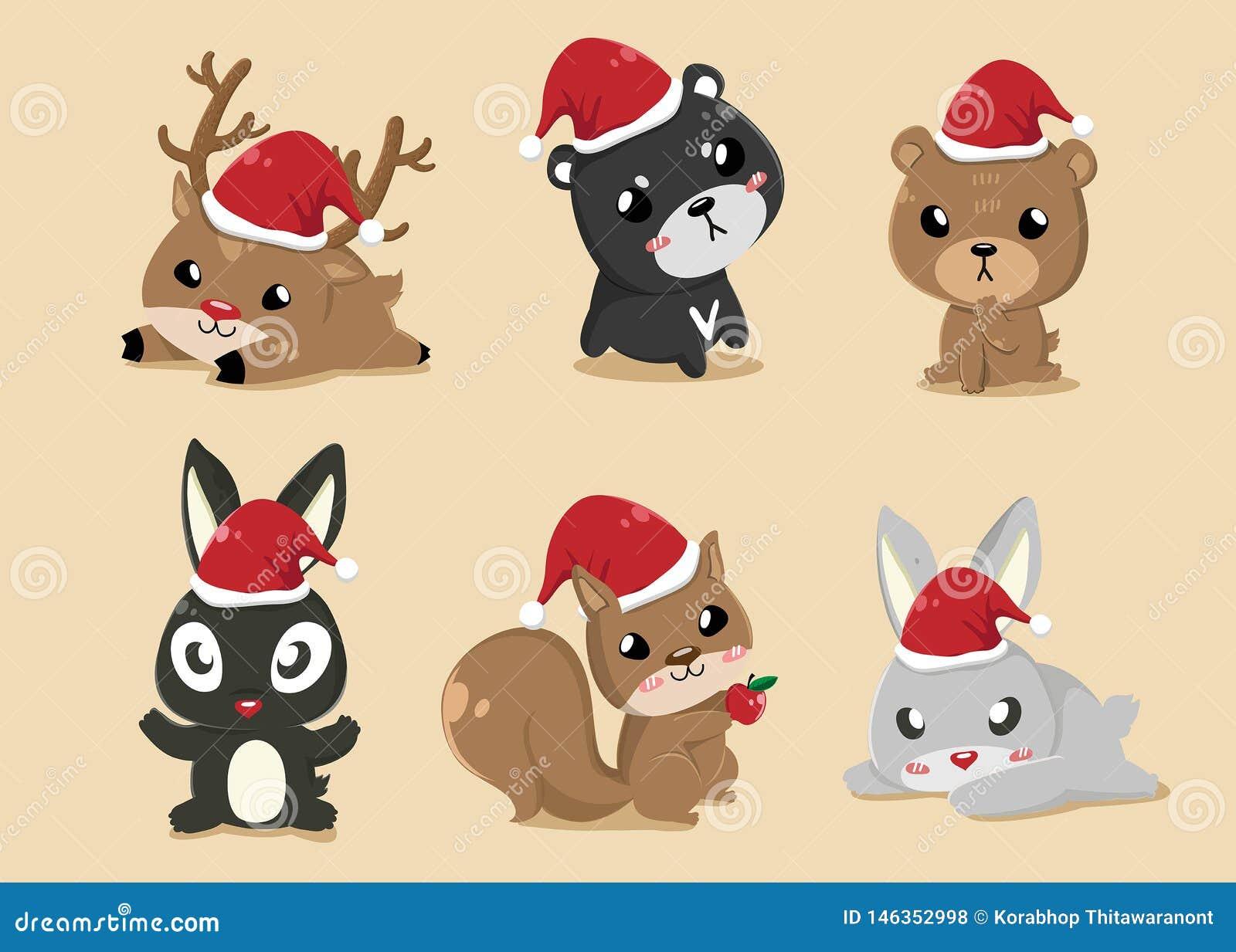 Animales en d?a de la Navidad