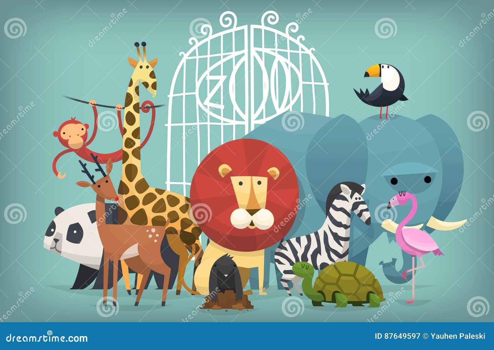 Animales en parque zoológico