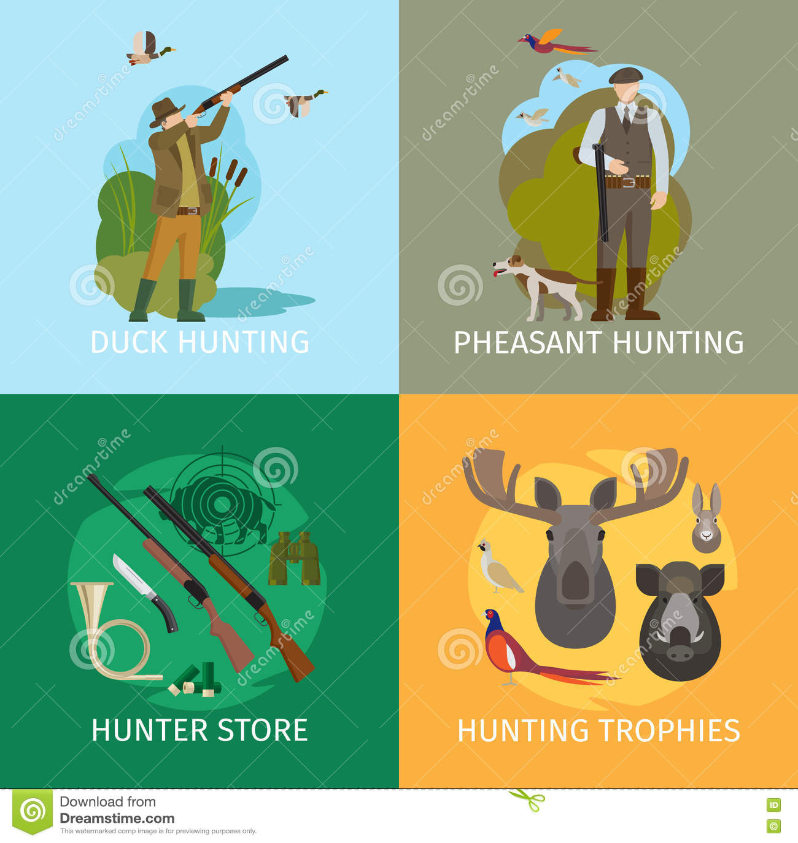 Animales que cazan conceptos