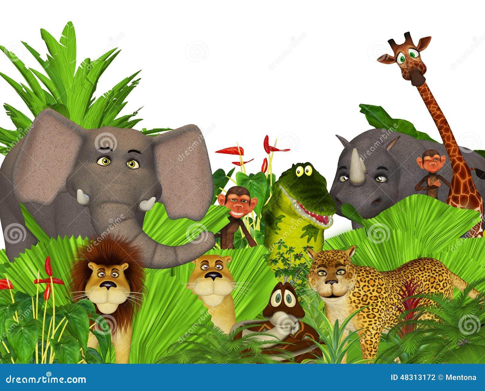animales salvajes de la selva de la historieta 3d stock de clipart of giraffe clipart of giraffe black and white