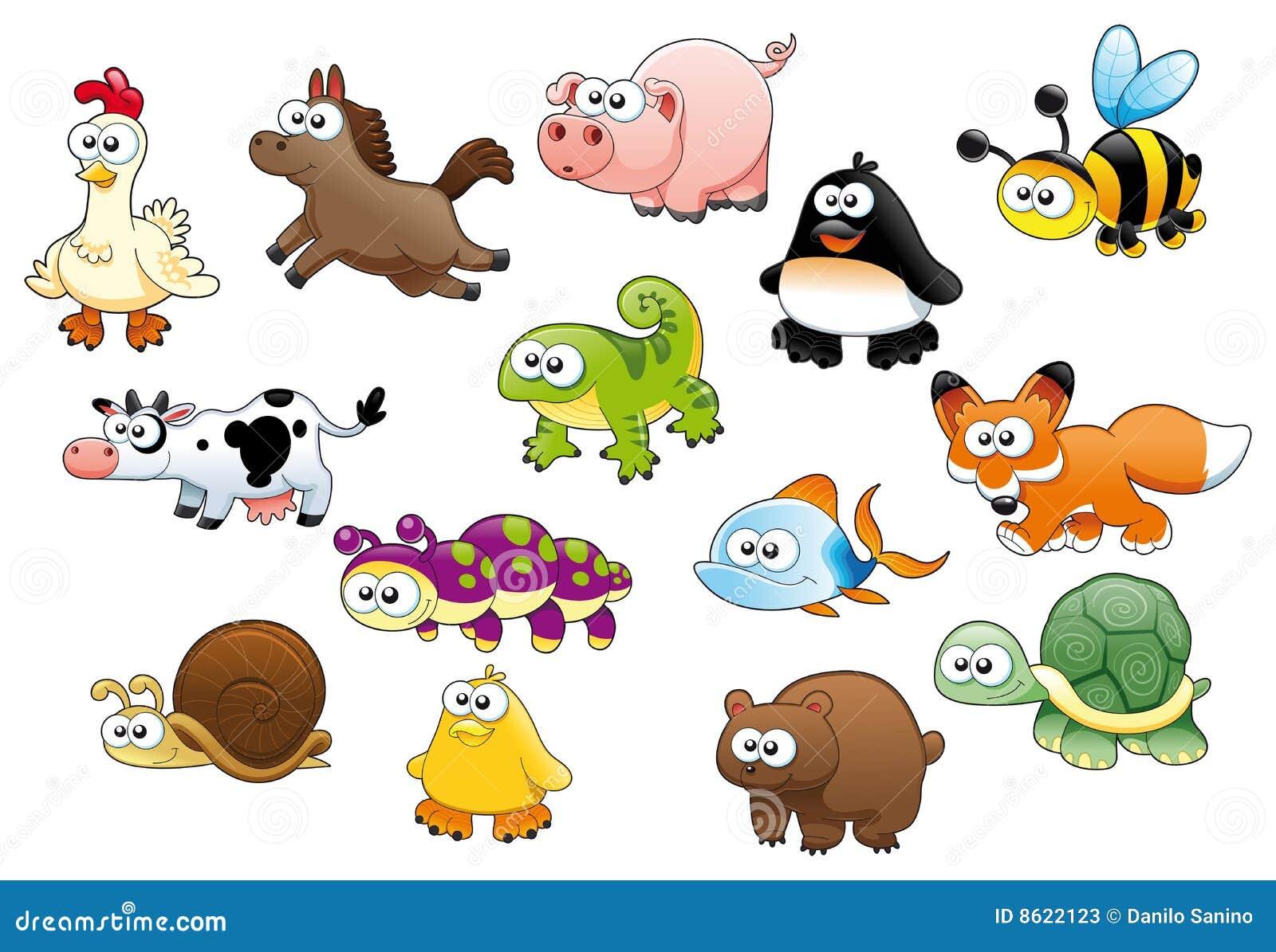 Animales y animales dom sticos de la historieta fotos de for Animales de plastico para jardin
