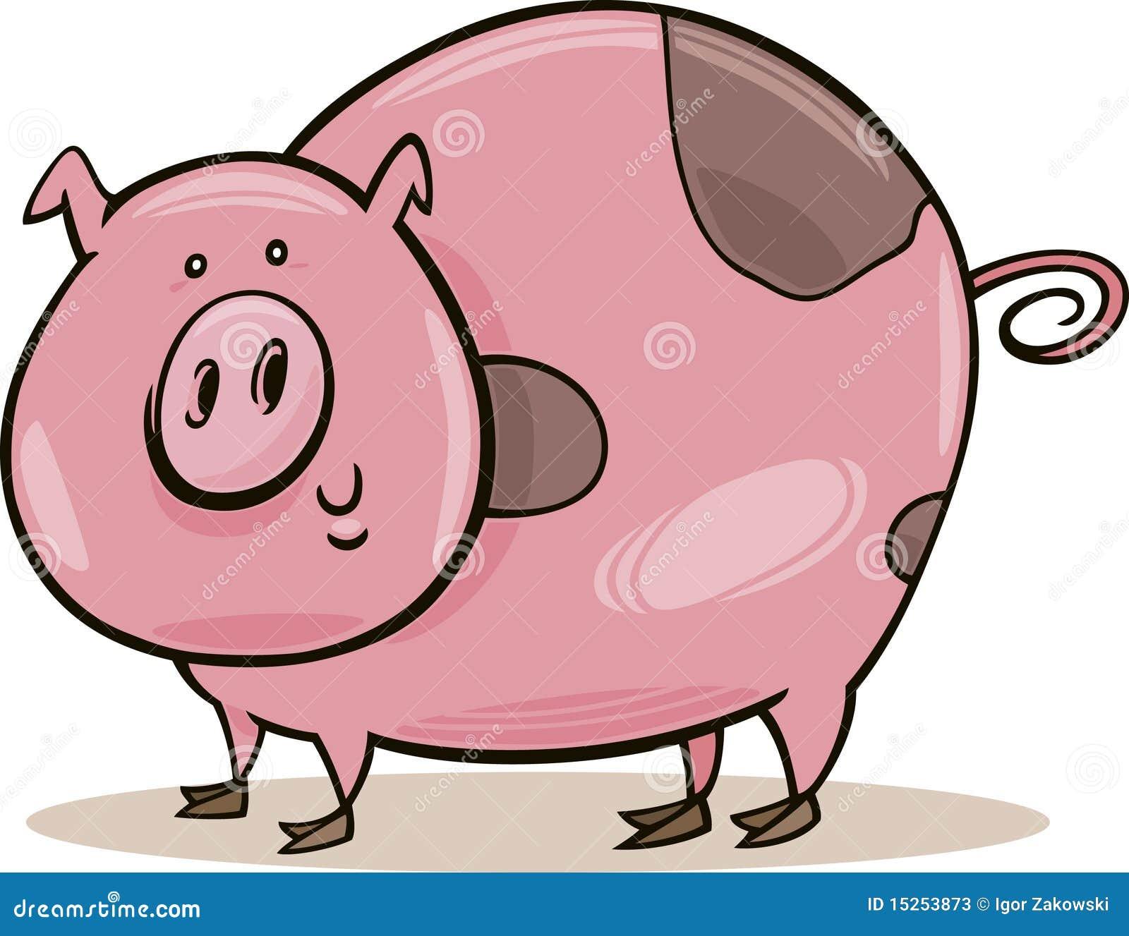 Animali da allevamento maiale macchiato fotografie stock