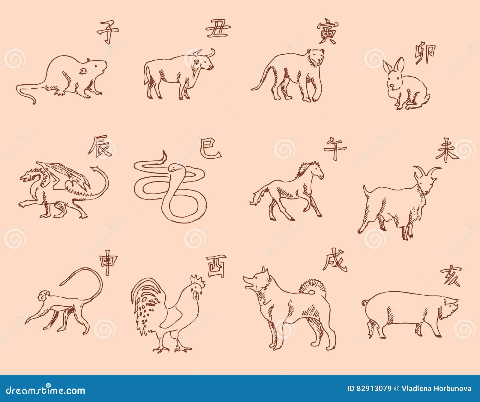 Calendario Giapponese Animali.12 Animali Del Calendario Cinese Dello Zodiaco I Simboli Del