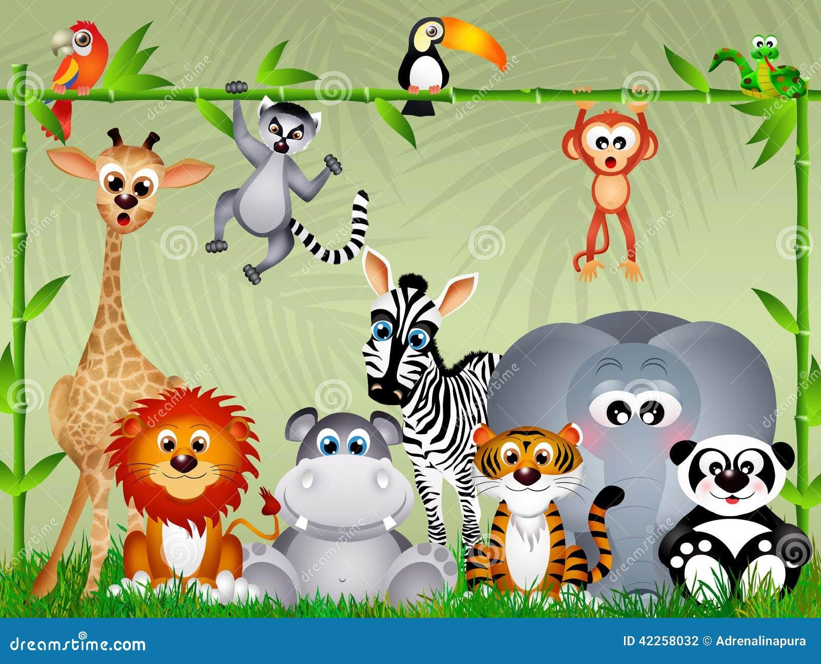 Animali della giungla illustrazione di stock immagine