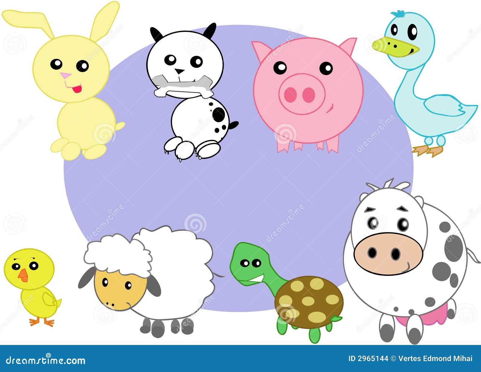 Animali domestici stilizzati immagini stock immagine - Animale domestico da colorare pagine gratis ...