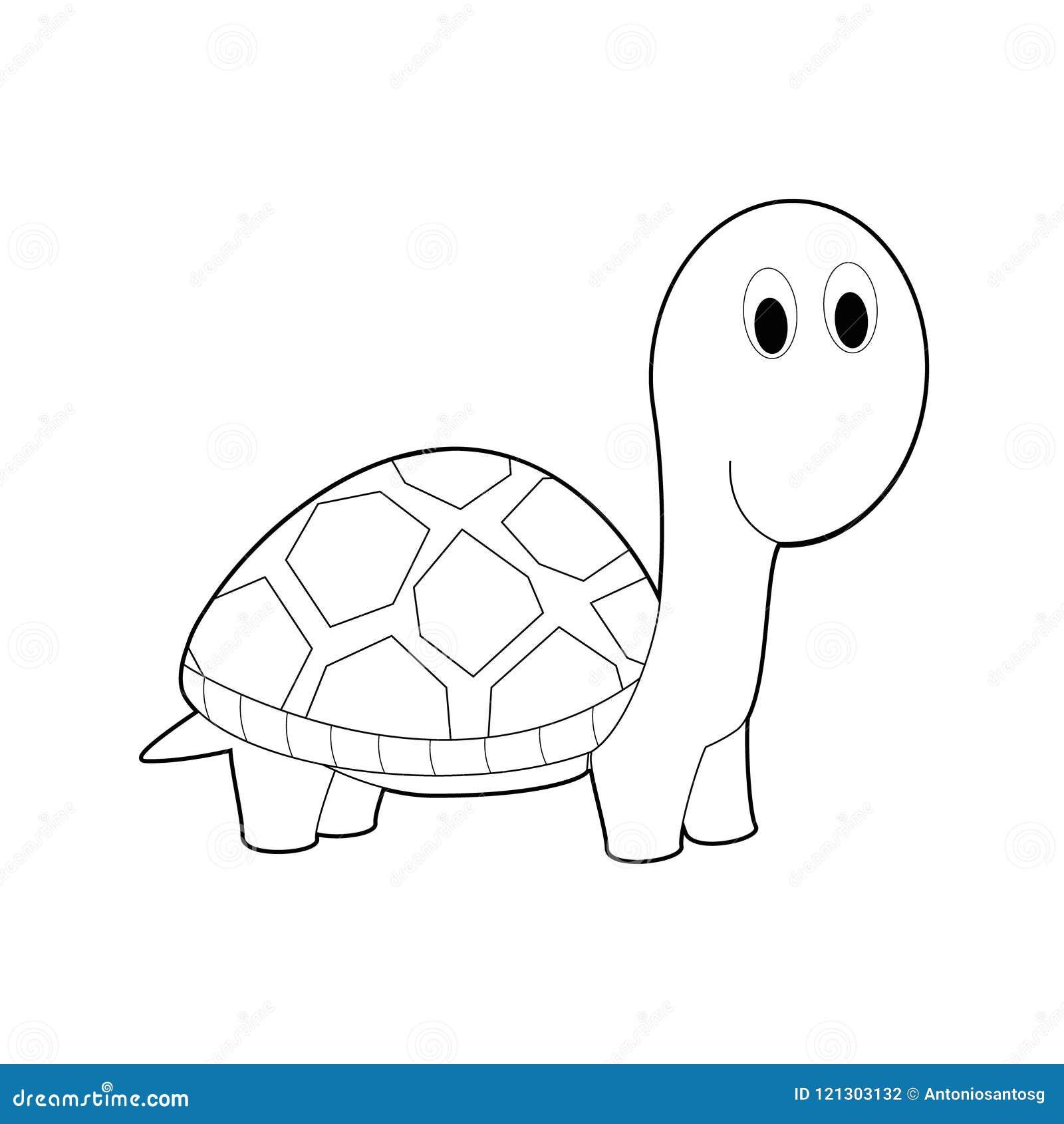 Animali Facili Di Coloritura Per I Bambini Tartaruga Illustrazione