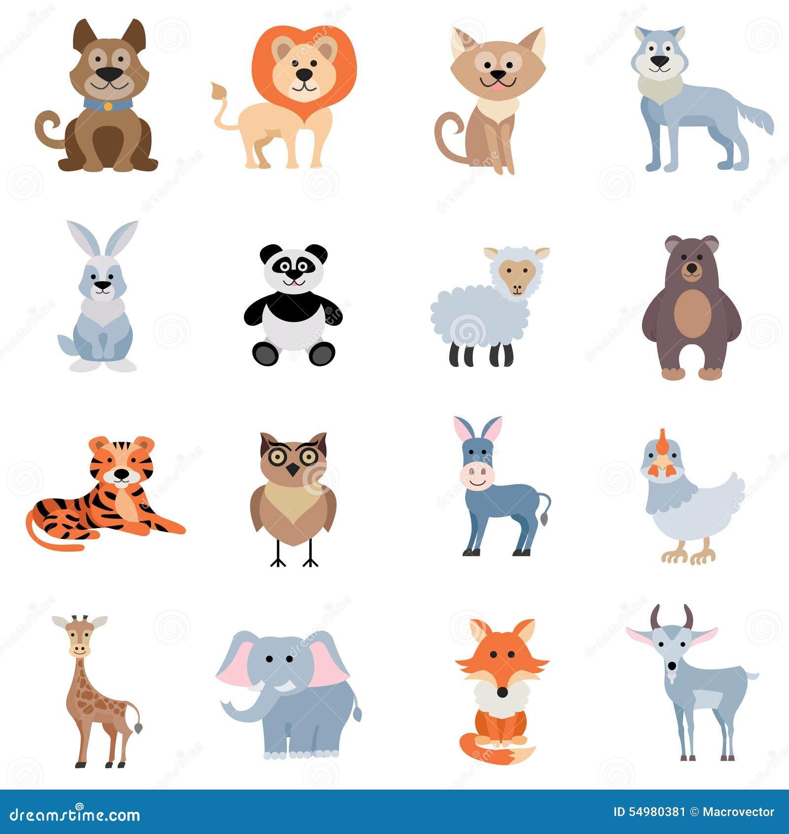 Animali selvaggi e domestici messi