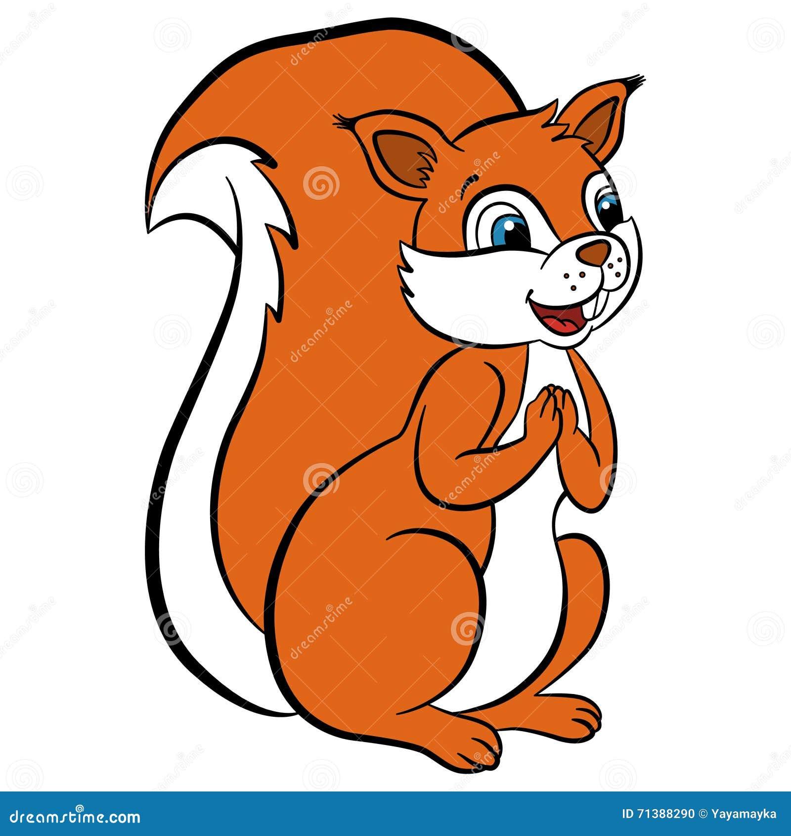 Animali selvatici del fumetto per i bambini piccolo for Disegni di animali per bambini