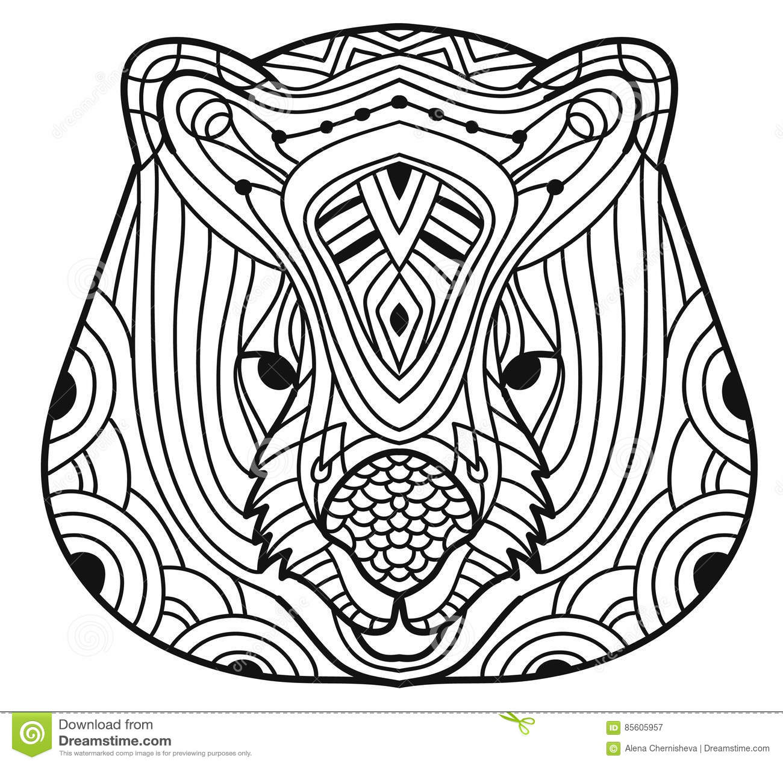 Animals Of Australia Wombat Coloring Book Stock Vector