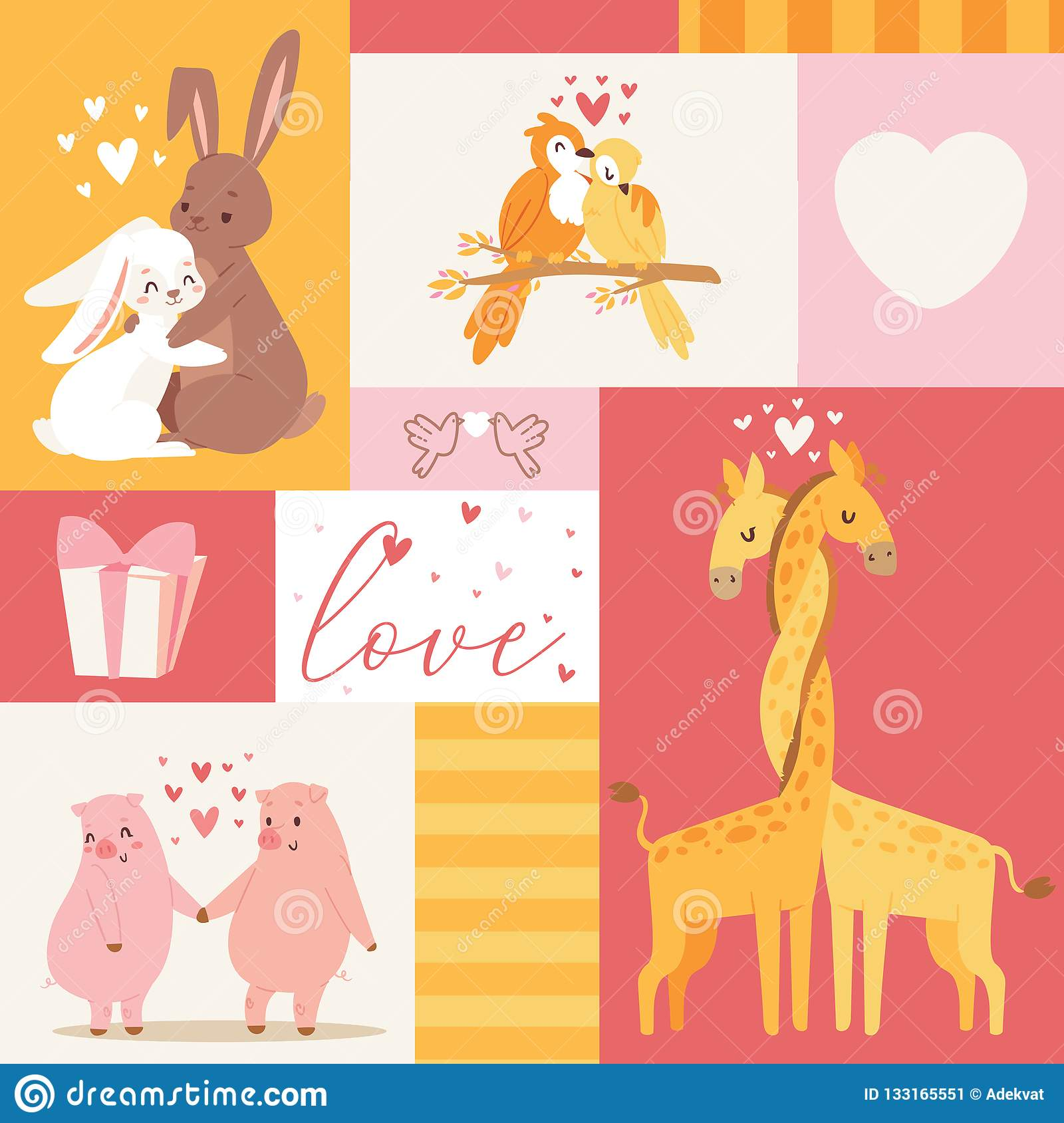 Animals Baby Birthday Invitation Zoo Card Vector Illustration Cute Poster Template Shower With