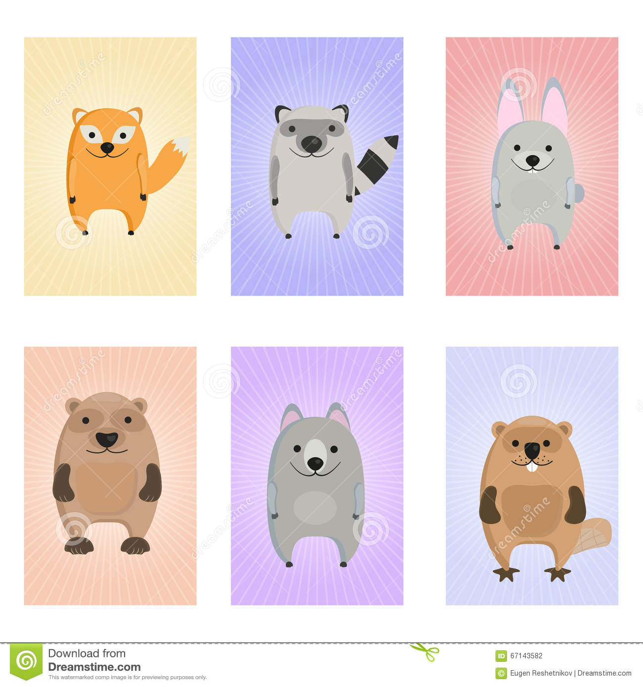 memory game for children cards with forest animals stock vector