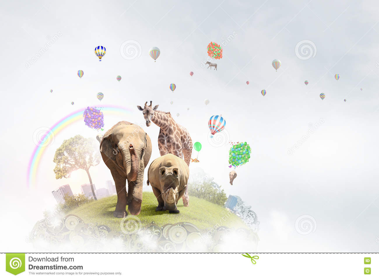 Animals Care And Protection   Mixed Media Stock Image