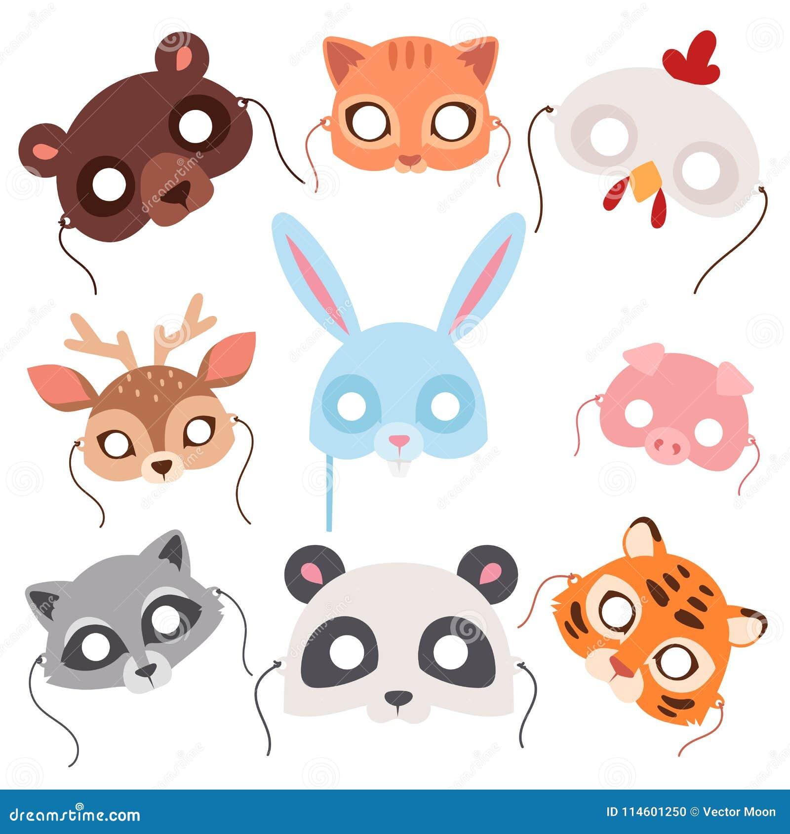 Animals Carnival Mask Vector Festival Decoration Masquerade