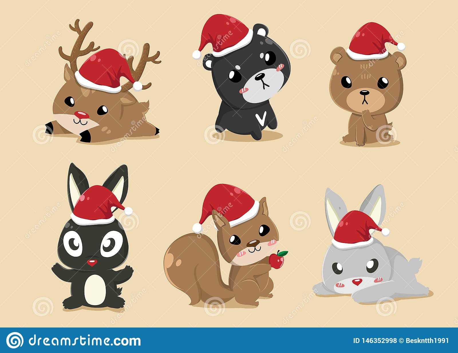 Animals in Christmas Day