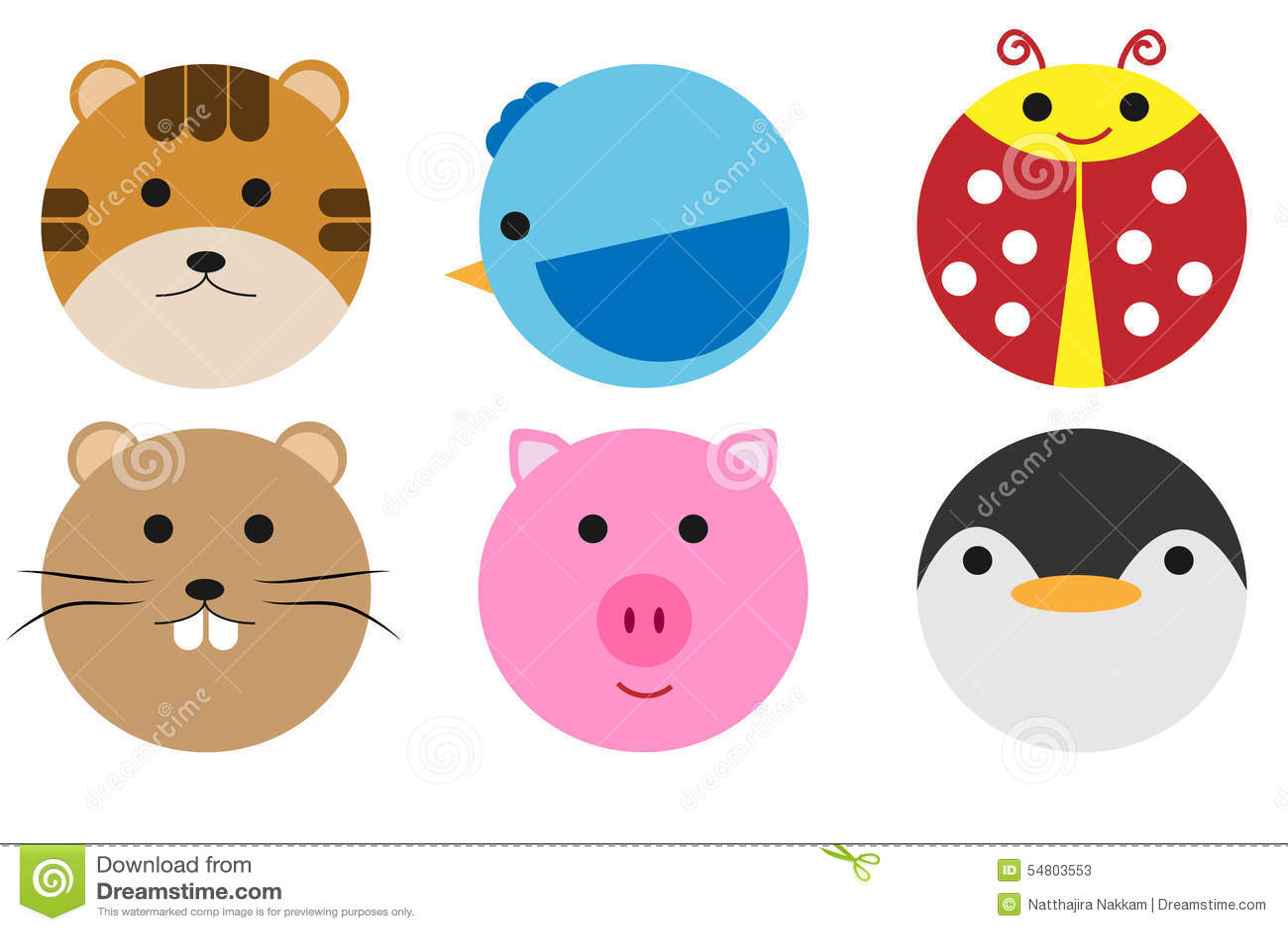 Animals circle stock vector. Illustration of cartoon ...