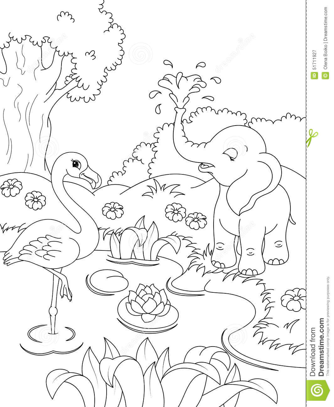 Animals Coloring Page Stock Vector Illustration Of Page