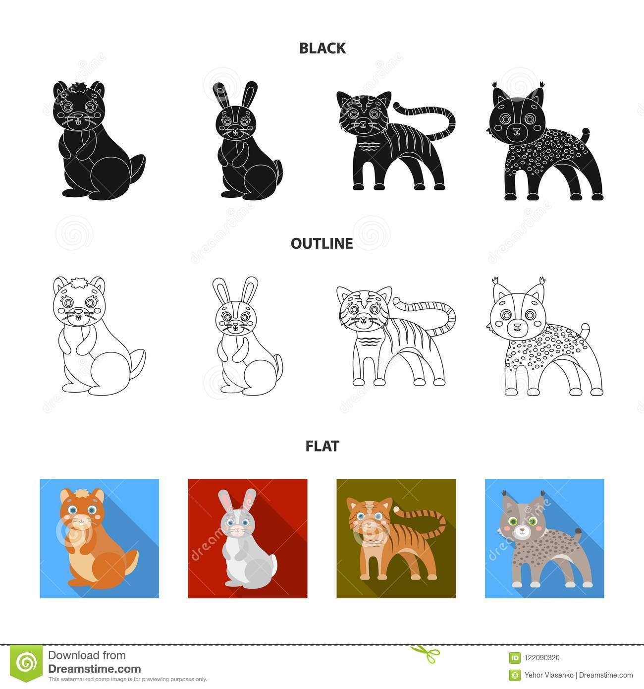 Animals, Domestic, Wild And Other Web Icon In Black,flat