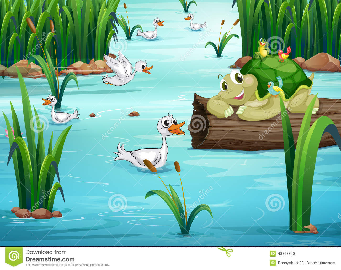 Animals and pond stock vector image 43863850 for Animali da stagno
