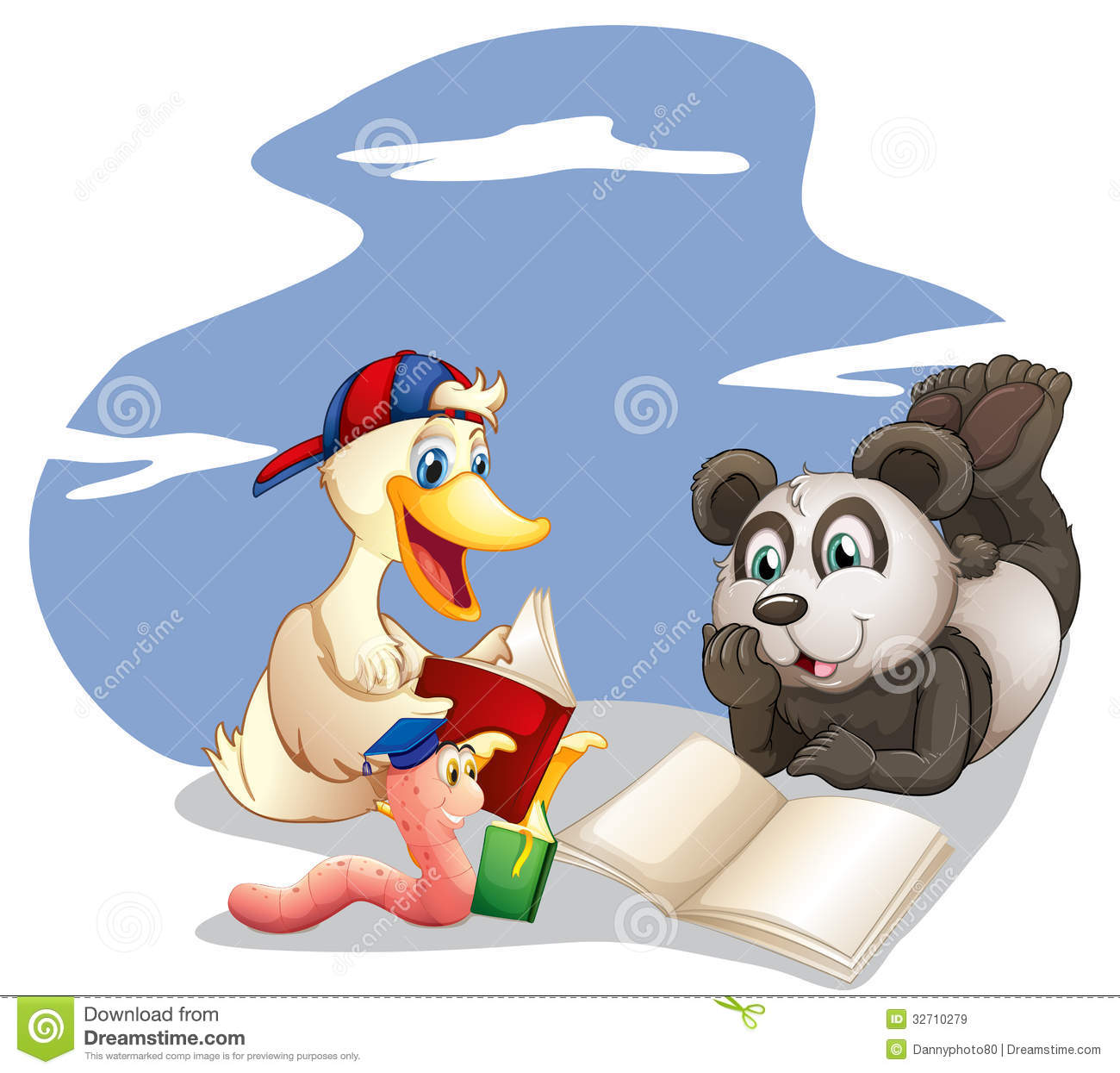 Animals Reading Books Royalty Free Stock Images - Image: 32710279