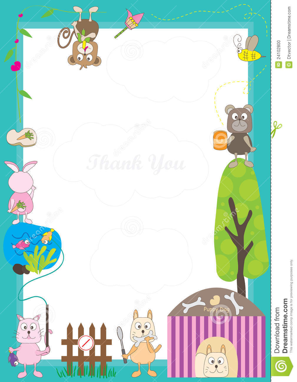 Animals Story Frameeps Stock Vector Image Of Banner 24102800
