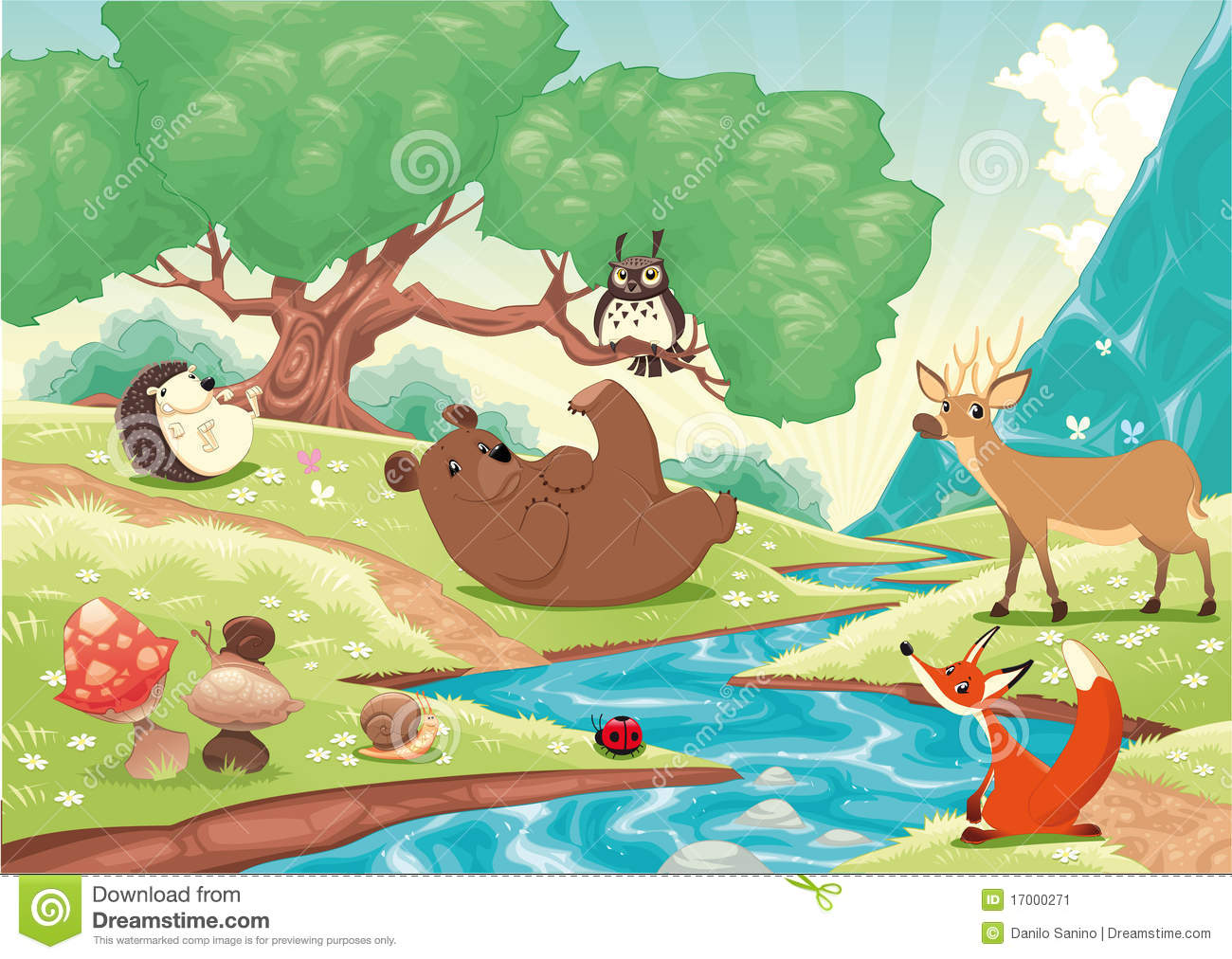 Animals in the wood