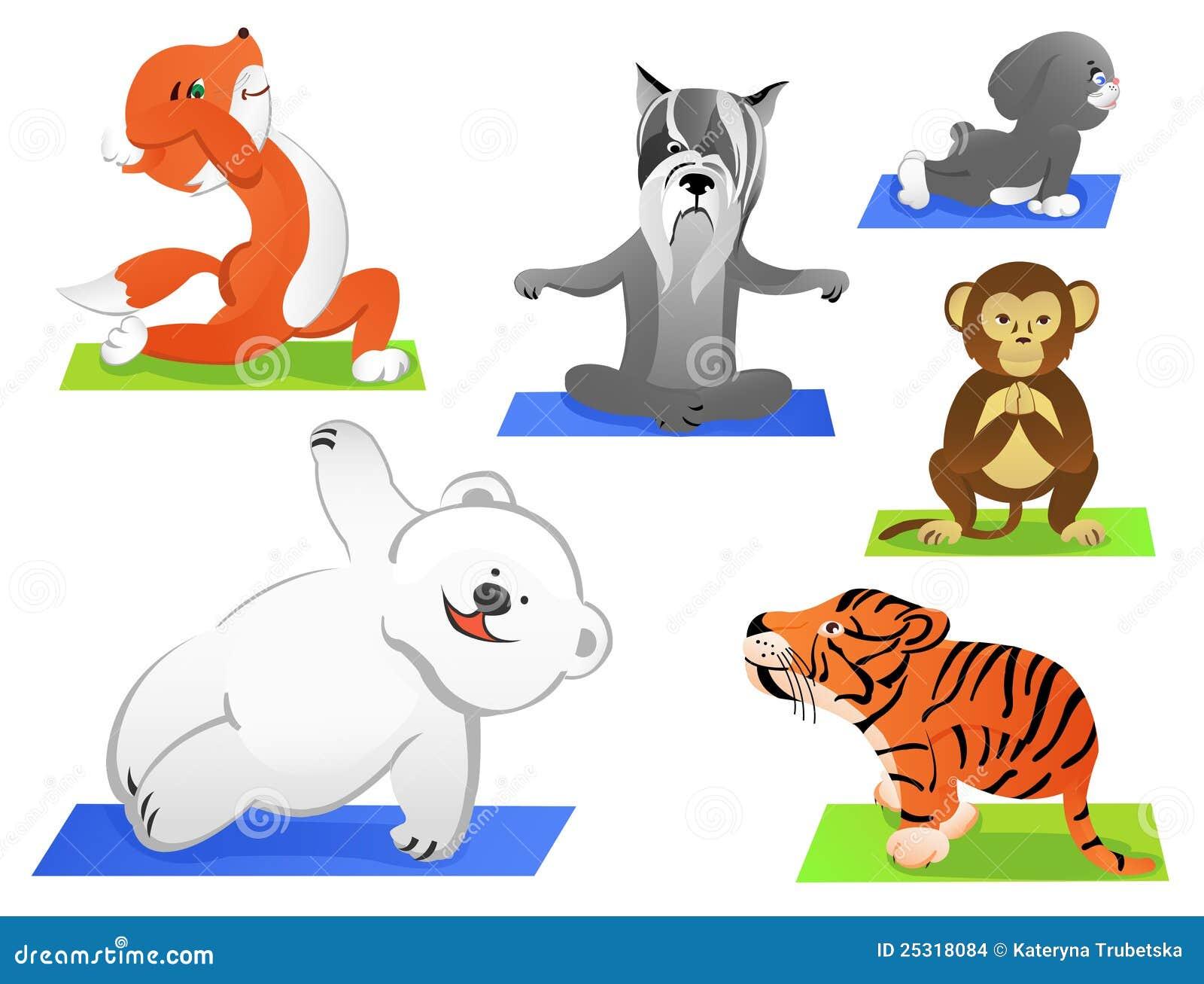 Animals Yoga Stock Images - Image: 25318084