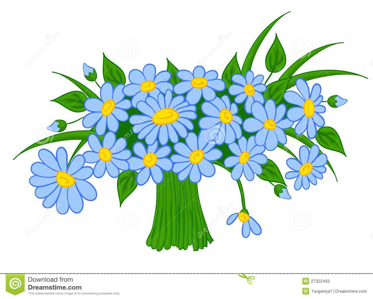 Animated Cartoon Bouquet Of Daisies Stock Photos - Image: 27322493