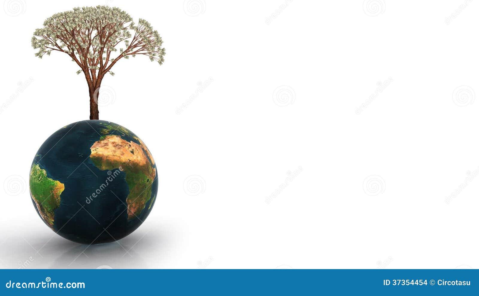Animated growing tree gif