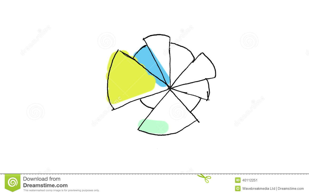 Animation Of Abstract Colourful Pie Chart Video Footage 40112251