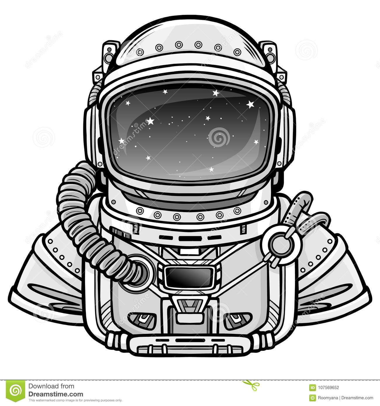 Animation Astronaut In A Space Suit. Stock Vector
