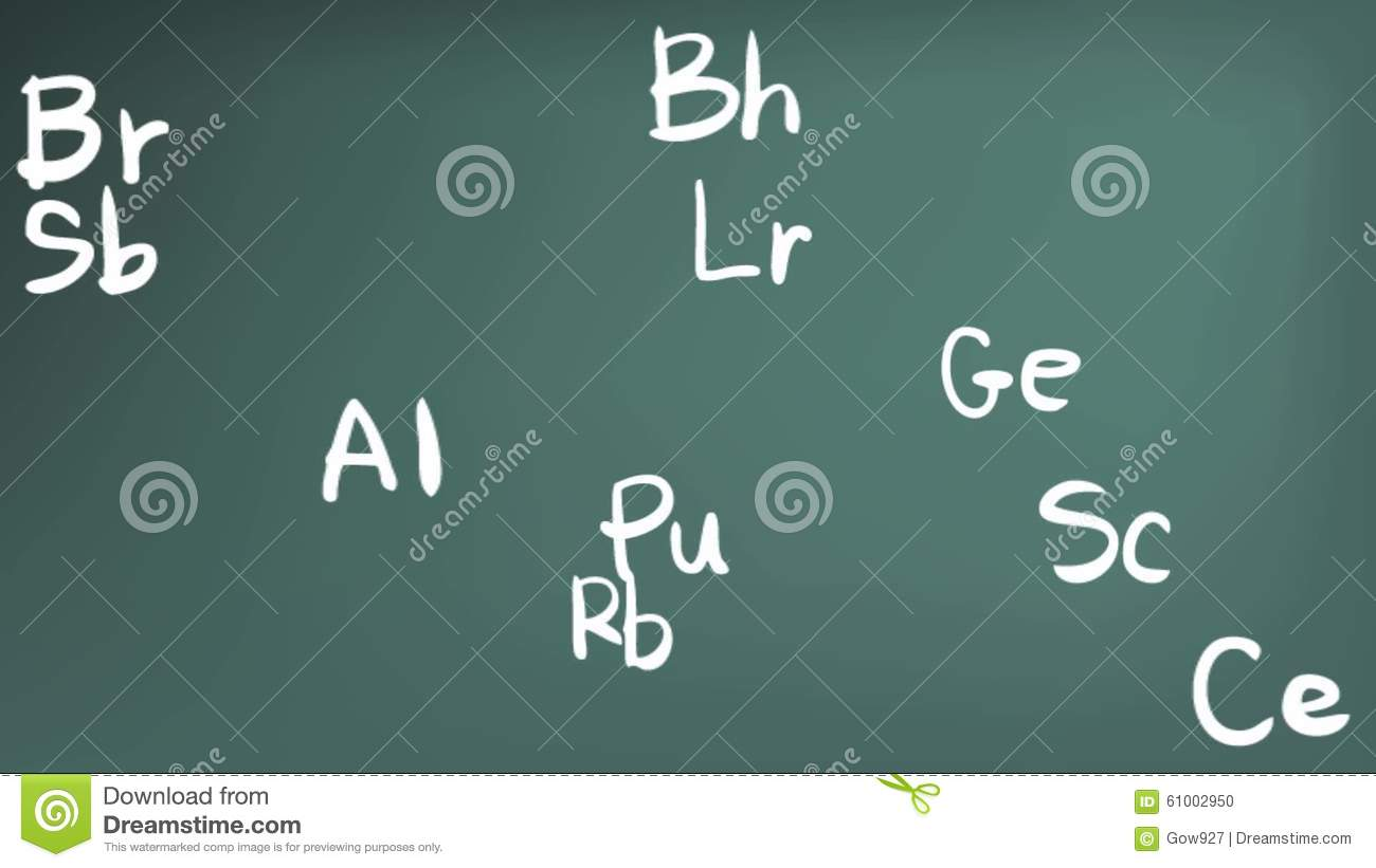 Animation of chemistry element in the periodic table theory formula animation of chemistry element in the periodic table theory formula icon moving in doodle handwriting in blackboard background use stock footage video of urtaz Choice Image