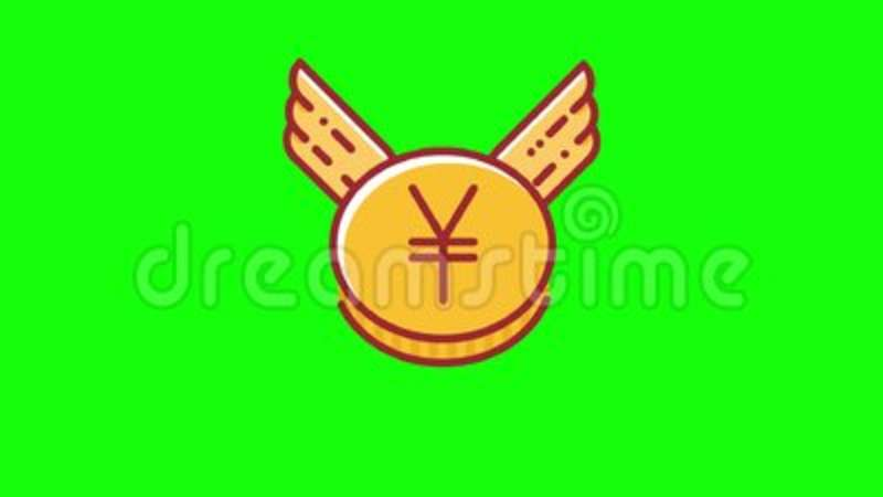 Animation Of Flying Yen Coin Which Is Shoot Down By Arrow Currency